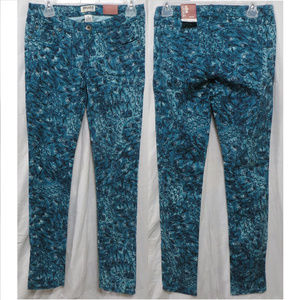 Mudd jeans 5 NWT blue feather skinny colored